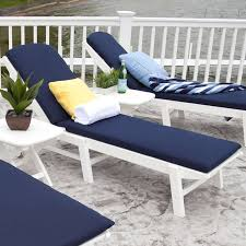 Chaise Lounge Cushions Polywood Nautical Chaise Lounge Cushions Outdoor Cushions