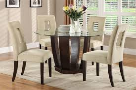 Fabulous Round Glass Dining Room Table Glass Dining Room Table - Round glass kitchen table sets