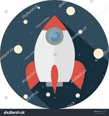 rocket ship vector illustration space design stock vector