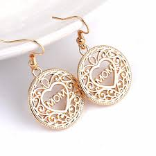 family jewelry hollow gold earrings s day gift