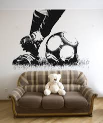sports wall stickers sports decals for walls stickerbrand vinyl wall decal sticker soccer feet 5074
