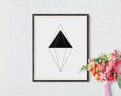 printable art business scandinavian art printable art triangle print modern art wall