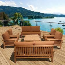 amazonia teak san francisco deluxe 8 piece deep seating patio