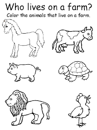 preschool printable farm worksheets animal matching worksheets