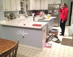 how to install peninsula kitchen cabinets spontaneous kitchen demo new floors jen schmidt