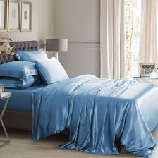 dark blue silk bed linen from 100 mulberry silk