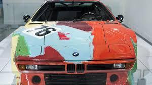 up close with andy warhol u0027s bmw m1 art car autoweek