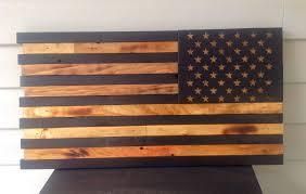 American Battle Flag Wooden American Flag Reversed Stars Forward Reclaimed Wood Burned