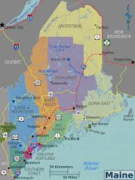 Map Portland Maine by Large Regions Map Of Maine State Maine State Large Regions Map