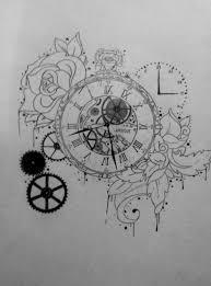 grey owl and pocket watch tattoos sketch caymancode