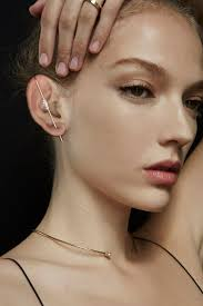 ear pin floating baguette ear pin katkim