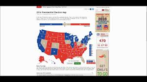 2016 Presidential Map 2016 Presidential Race Electoral Map Youtube