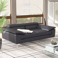 Leather Sofas Modern Modern Leather Sofas Couches Allmodern
