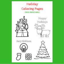 holiday coloring pages free printable simple mom review