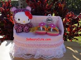 sobearycute kitty diaper cake