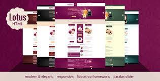 lotus spa u0026 wellness html responsive template by rayoflightt