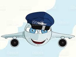 cute cartoon airplane in a pilot hat stock vector art 156769135