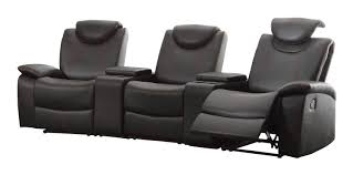 homelegance talbot reclining theater seating bonded leather