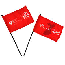 go red for women mini flag aha shop heart