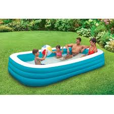 amazon com play day 120 deluxe family pool garden u0026 outdoor