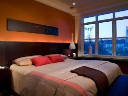 orange bedroom paint color ideas with dark furniture home xmas