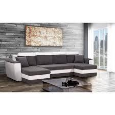 canap d angle en u brugges canapé d angle u convertible 5 places tissu gris et
