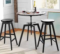 bar height table height blaine reclaimed wood adjustable bar height table pottery barn