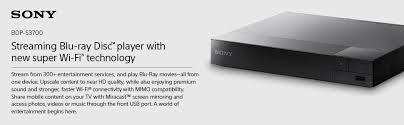 amazon com sony bdps3700 streaming blu ray disc player with wi fi