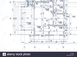 blueprint floor plan part of blueprint floor plan technical drawing background stock