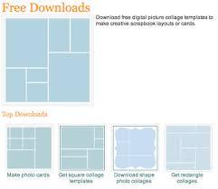 5 photo collage templates photobook fanatic pinterest photo