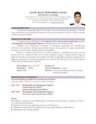resume sle 2015 philippines sea sle resume electronics engineer philippines danaya us