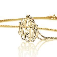 Monogram Bracelet Silver Monogram Initial Necklace Naomi Personalized Jewelry