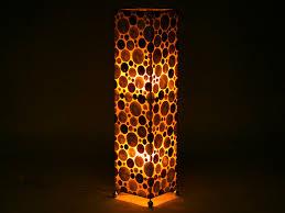 Square Floor Lamp Resin And Seashells Floor Lamp Square 92 Cm Oakea