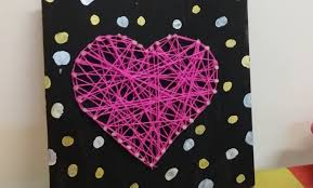 diy string art without nails room decorations youtube