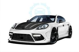 porsche panamera bodykit carbon fiber front bumper engine cover kit for porsche