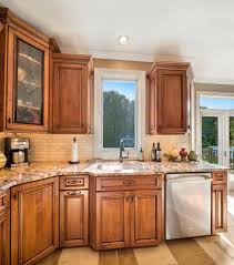 Leaded Glass Kitchen Cabinets Traditional Wood Cabinets Matawan New Jersey By Design Line Kitchens