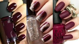 25 photos of burgundy nail designs for a chic winter