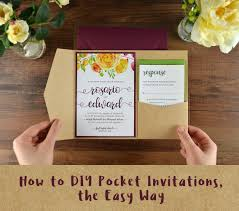 diy pocket wedding invitations how to diy pocket invitations the easy way cards pockets