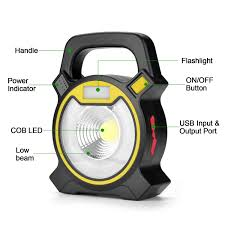 Portable Work Light Emergency Light Portable Work Light With Usb Output Rechargeable