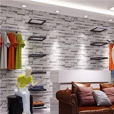 luxury stone brick wall vinyl wallpaper roll 3d living room