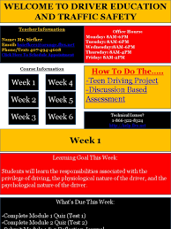drivers ed driving educational assessment