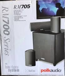 4 1 home theater polk audio rm705 5 1 home theater system set of six black