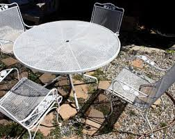 Wrought Iron Patio Table And Chairs Patio Furniture Etsy