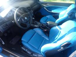 bmw blue interior 2001 bmw e46 m3 laguna seca blue and black interior seats and door