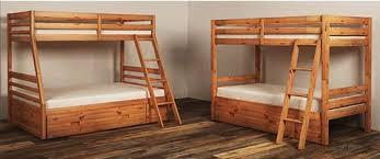 hallytown light brown twin full bunk bed panels b324 58p