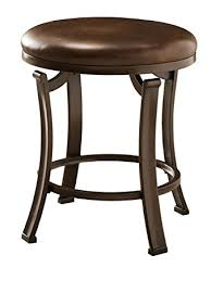 amazon com hillsdale hastings backless vanity stool antique