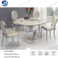 stainless steel table and chairs china modern fashion customized marble dining table furniture with