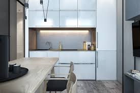 design delightful great one wall kitchen with white cabinets and