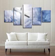 Aliexpress Home Decor Aliexpress Com Buy 5 Piece Modern Hd Print Painting Christian