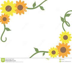 Free Decorative Borders Clip Art Inspiring Sunflower Border Clip Art Free Decoration Png Clipart